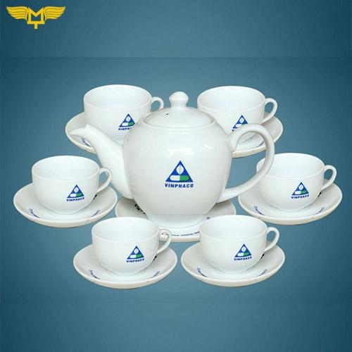 quà tặng quảng cáo - bộ tách trà gốm sứ