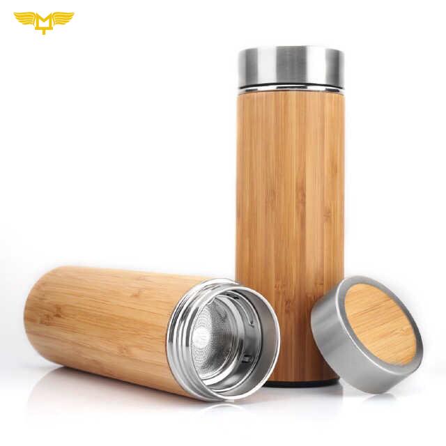 Bình giữ nhiệt gỗ tre 05
