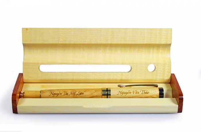 hộp bút gỗ khắc laser quà tặng